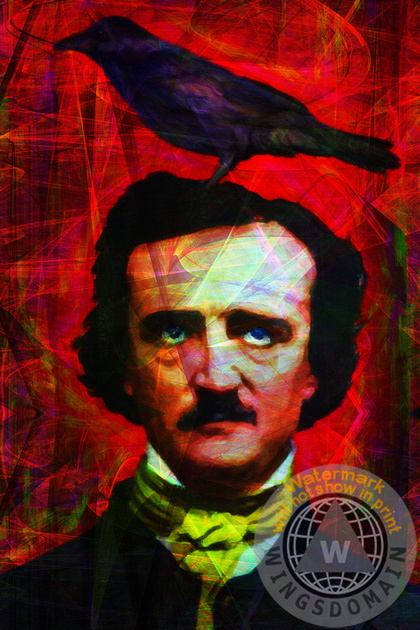 celebrity,celebrities,edgar,allan,alan,allen,poe,edgar allan poe,edgar allen poe,edgar alan poe,nevermore,sweet lenore,poetry,poet,poets,poem,poems,writer,writers,author,authors,goth,raven,ravens,crow,crows,halloween,dark,surreal,surrealism,dream,dreams,morbid,death,horror,scary,fantasy,haunted,ghost,humor,humour,humorous,fun,funny,kitsch,kitschy,pop,popart,andy warhol,portrait,portraits,mustache,old,vintage,classic,quoth the raven nevermore,people,face,faces,crazy,strange,wing tong,wingsdomain