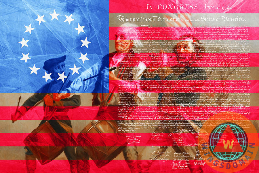 cb1773f867d7 The Spirit Of 76 The American Flag And The Declaration Of Independence by  Wingsdomain Art and Photography