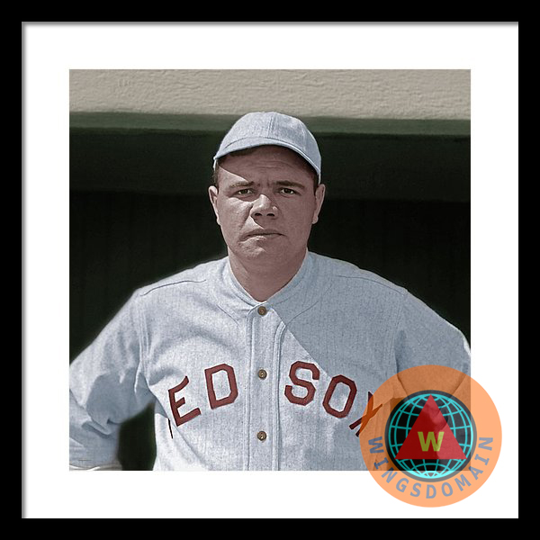 Buy Babe Ruth Boston Red Sox Colorized Framed Print by Wingsdomain ...