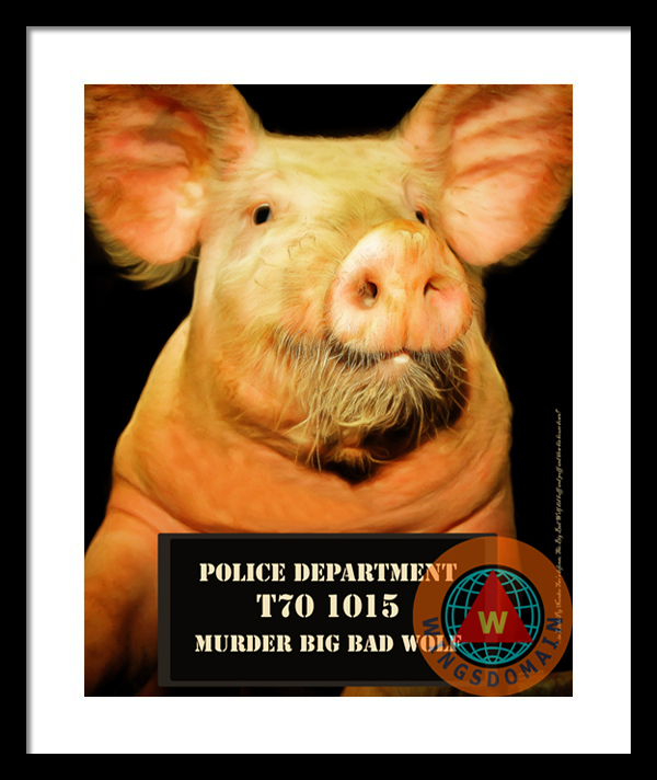 Purchase Little Pig Number Two Mugshot by Wingsdomain Art and